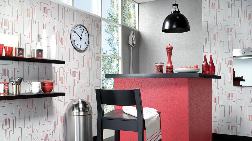papier peint cuisine pas cher mod le et pr cautions prendre. Black Bedroom Furniture Sets. Home Design Ideas